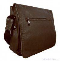 Tmavě hnědá pánská crossbody  taška 8060-2A