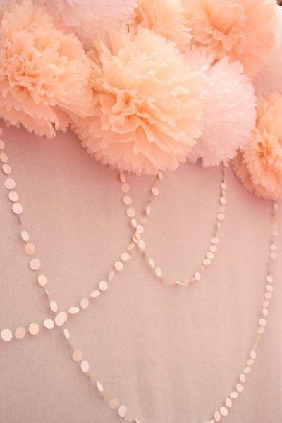 Decoração com pompons de papel | Macetes de Mãe