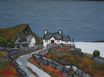 British Artist David BARNES-Distant Bardsey