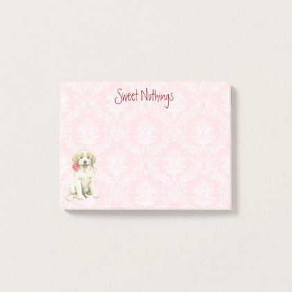 Valentine Rose Great Pyrenees Post-it Notes | Zazzle.com