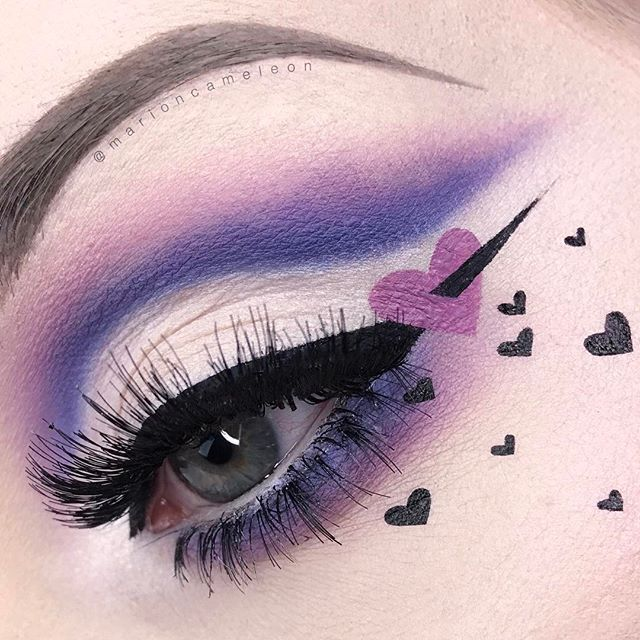WEBSTA @ marioncameleon - SAINT  VALENTIN__________BROWS : @anastasiabeverlyhills Dip Brow pomade in Taupe@nyxcosmetics Brow Mascara in Blonde_EYES : @nyxcosmetics Faux white pencil @katvondbeauty Pastel Goth palette (Meow, Dope