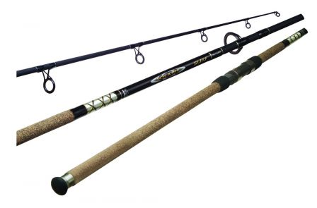 SOLARIS SURF ROD:  Containing the most powerful actions in the Okuma surf rod lineup, Solaris Surf rods are constructed on IM-6 graphite blanks to deliver a proven combination of lightweight handling, responsiveness and exceptional durability. Fuji guides with Aluminum Oxide inserts and cork-wrapped non-slip fore and rear grips offer a traditional build for anglers who desire high-end construction components and exceptional performance in a value-laden rod series.