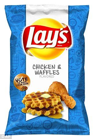 Lay's Chicken & Waffles flavored potato chips