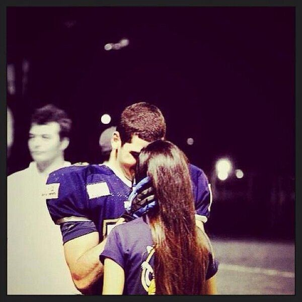 I DREAM OF HAVING A FOOTBALL PLAYER AS A HIGH SCHOOL BOYFRIEND ..... this dream has came true for me last night ❤❤