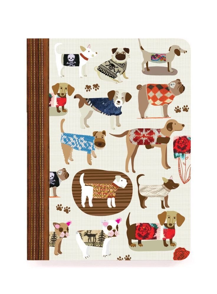 JOURNALS & NOTEBOOKS :: perfect bound notebooks :: Dog Sweaters perfect bound - Ecojot - eco savvy paper products