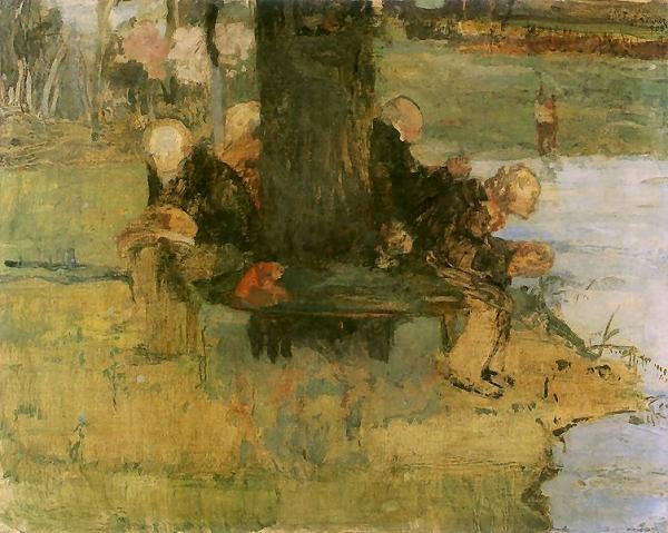 Wegetacja (Emeryci)   1906. Tempera na płótnie