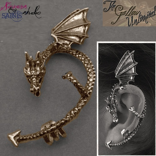 'Majestic Draco the Dragon Ear Cuff ' is going up for auction at  9pm Wed, Mar 20 with a starting bid of $6.