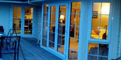 double glazed french doors - combo with opening window.