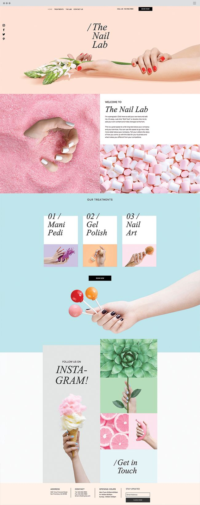 The Nail Lab Website Template