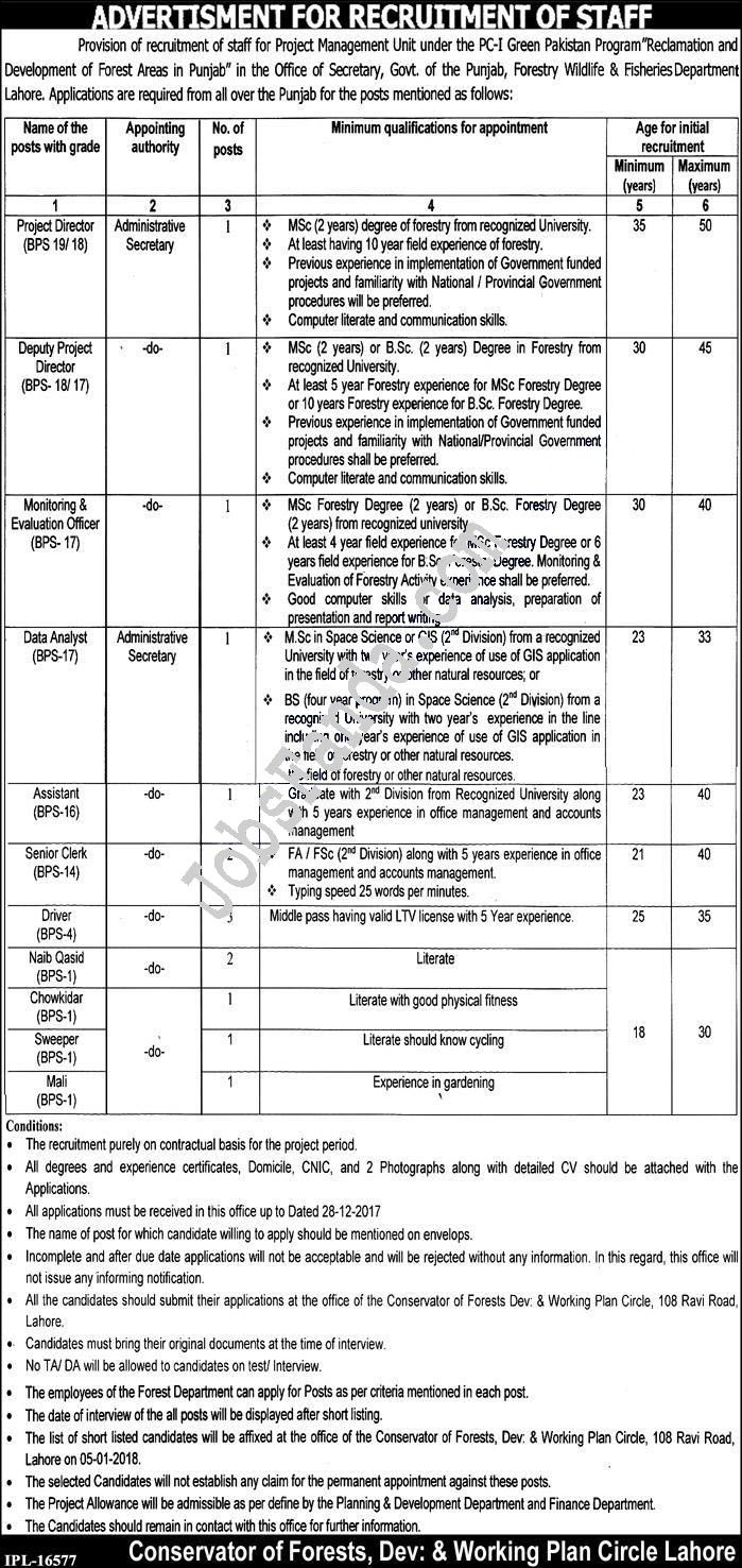 Forest Department Jobs 2017 In Lahore For Directors And Assistant http://www.jobsfanda.com/forest-department-jobs-2017-lahore-directors-assistant/