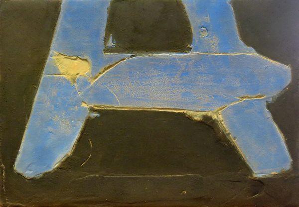 Santiago Uribe Holguín, Untitled blue, 2013, Mixed media on canvas 70x100cm