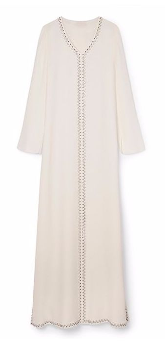 Tory Burch Embellished Silk Caftan