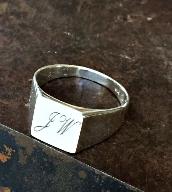 5bc04ea59 Initials ring, Pinky signet ring, Personalized signet ring, Name Ring, Custom  Name Ring, Monogram ring, Personalized ring, Unisex ring