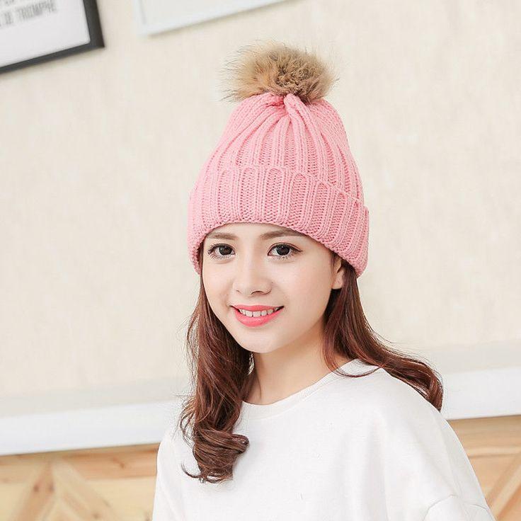 Crochet Wool Knitting Beanie Ball Cap Womens Winter Warm Novelty Hat