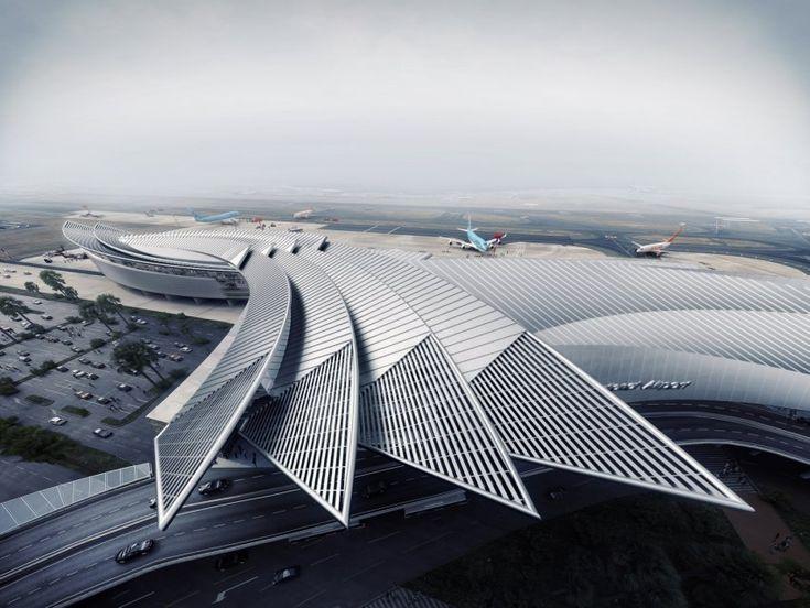 Best of Week 38/2015 - Jeju International Airport by urbanite - Ronen Bekerman - 3D Architectural Visualization & Rendering Blog