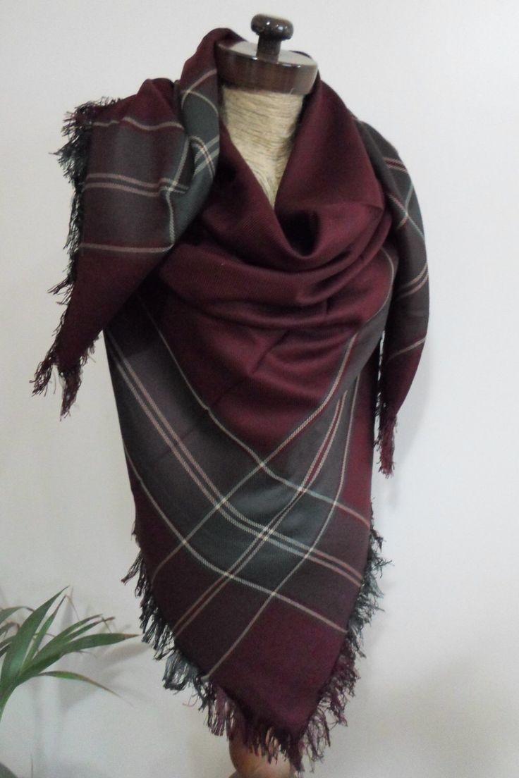 Burgundy Plaid Blanket scarf, Plaid scarf, Winter fashion, blanket scarves, oversized, For Men, For Her, blanket, by AtlasScarf on Etsy https://www.etsy.com/listing/245888386/burgundy-plaid-blanket-scarf-plaid-scarf