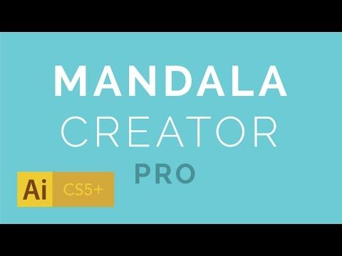 Mandala Creator Addon for Adobe Illustrator - YouTube