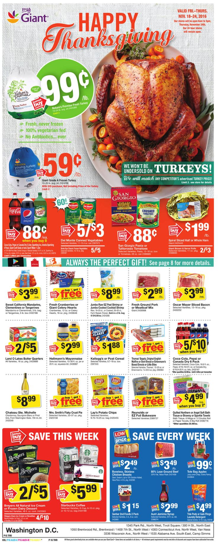 Giant Food Weekly Ad November 18 - 24, 2016 - http://www.olcatalog.com/grocery/giant-food-weekly-ad.html