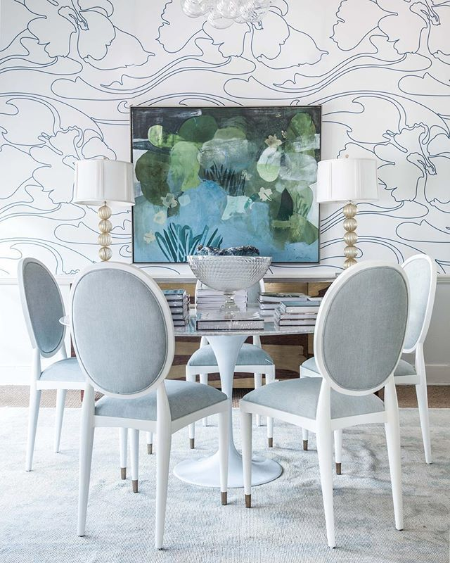 693 best inside blue print images on pinterest white and blue dining room white lacquer and blue upholstered dining room chairs brand malvernweather Choice Image