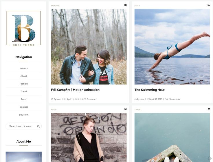 Responsive WordPress Blog Theme With 4 Different Layouts