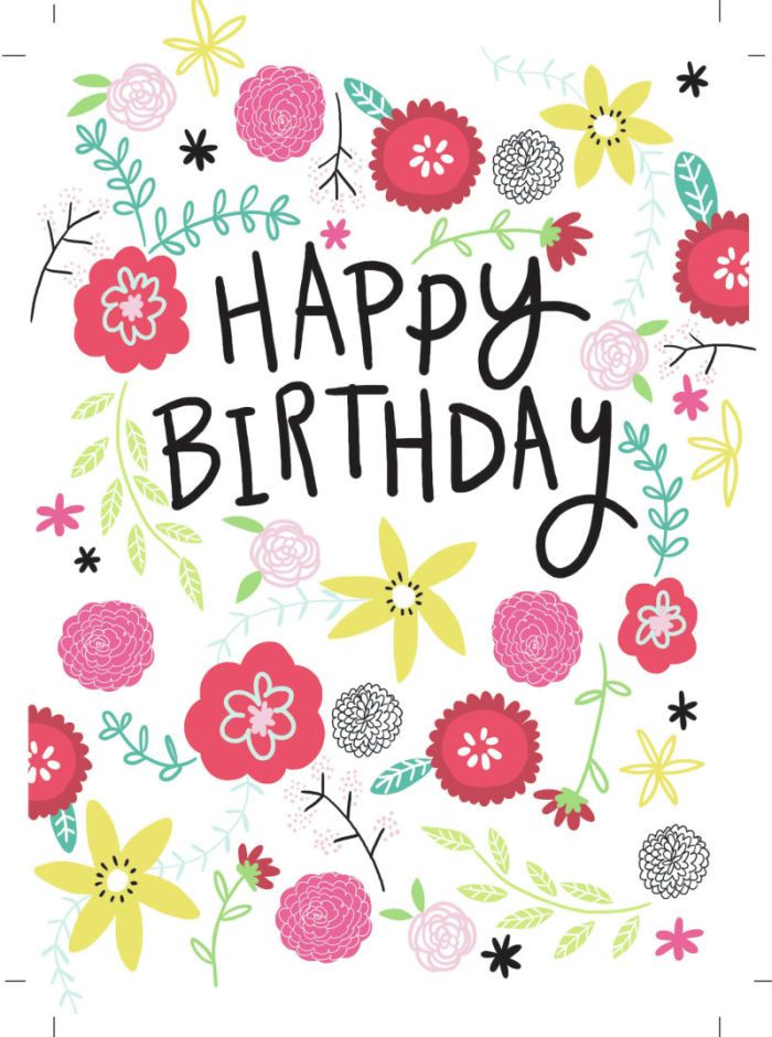 Jeannine Rundle - AD2908A HAPPY BIRTHDAY FLORAL