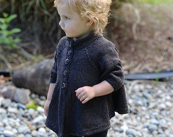 KNITTING PATTERN-The Billow Cardigan (2/3, 4/5, 6/7, 8/9, 10/11 years)
