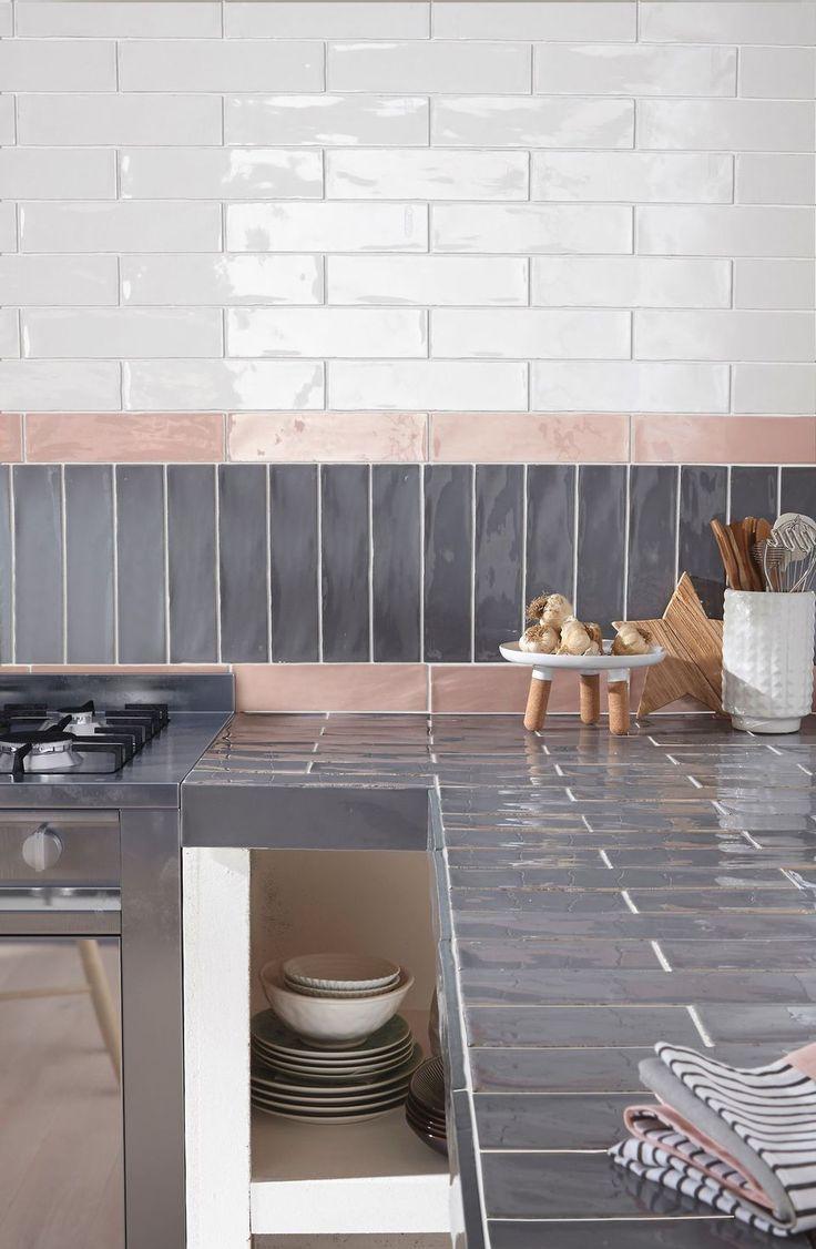 Kitchen Tiles Trendy Models For The Kitchen Carrelage Mural