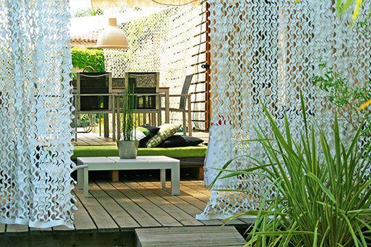 Rideau camouflage pour terrasse !