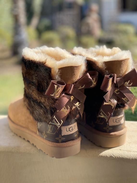 ugg boots customized with Louis Vuitton