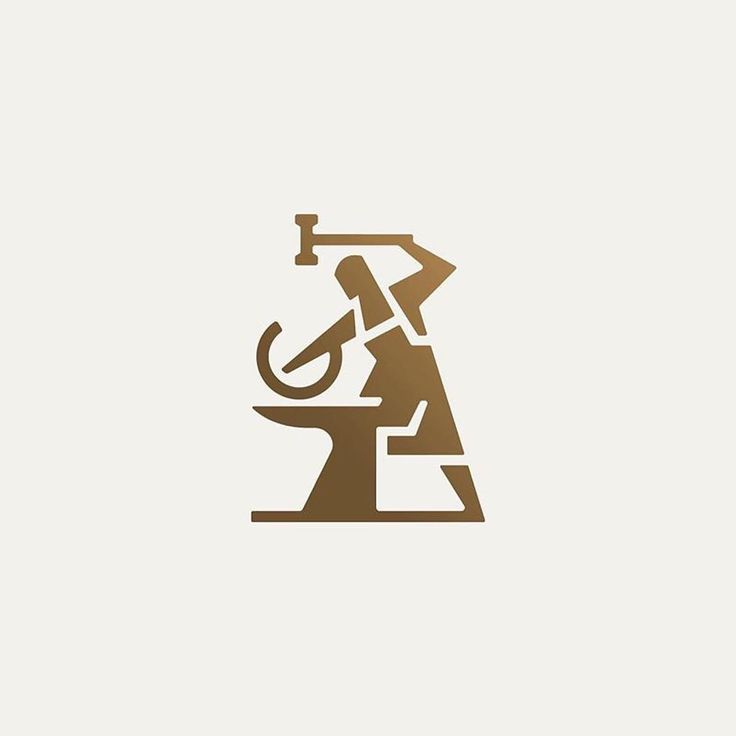 Iron Blacksmith by @doubleacreative -  LEARN LOGO DESIGN  @learnlogodesign @learnlogodesign - Want to be featured next? Follow us and tag #logoinspirations in your post