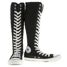 Converse donna BLACK & WHITE XXL All Star Hi Scarpe Da Ginnastica Misura UK 3,4,5,6,7,8
