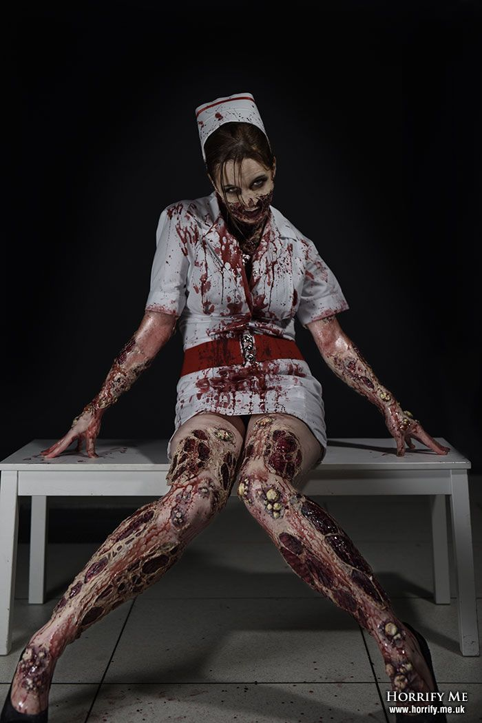A Pretty Disease - Horrify Me, horror photography and portraits of rotting zombies, evil vampires, demonic demons, dark erotic beauty and boudoir, hanged victims, human autopsy, gross blood and gory concepts, horror icons and much more. www.horrify.me.uk zombie nurse