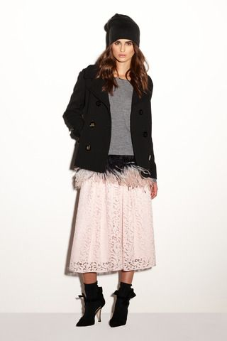 Milly Pre-Fall 2014 Collection Proportions and craziness of texture is fun