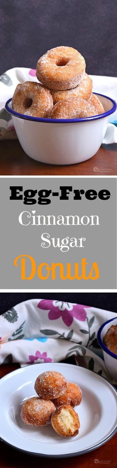 Egg-free Recipe of Cinnamon Sugar Donuts! Perfect recipe for little one's. #easyrecipe #recipes #eggless #homemade #yum