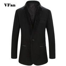 Hombre de lana abrigo traje Casual de negocios larga sección cuello de piel abrigo de invierno caliente Slim Fit Outwear Color sólido