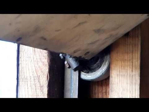 Самодельные подъемные ворота в гараж. - YouTube