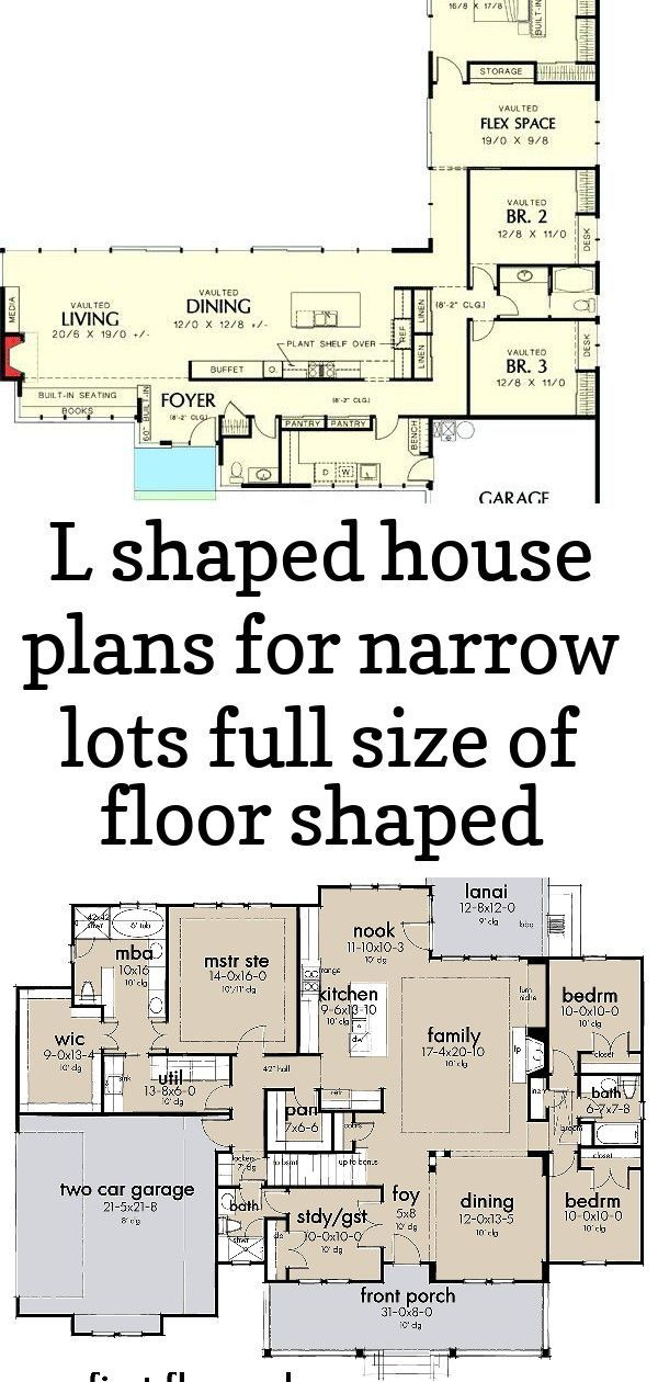 L Shaped House Plans For Narrow Lots Full Size Of Floor Shaped Modern House Plans With Narrow Without Unique Lo L Shaped House Plans L Shaped House House Plans