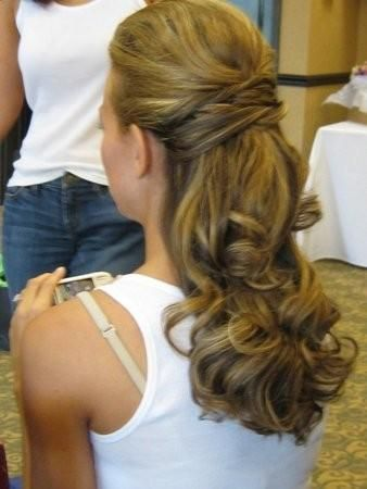 love this hair. perfect mixture of up and down styles