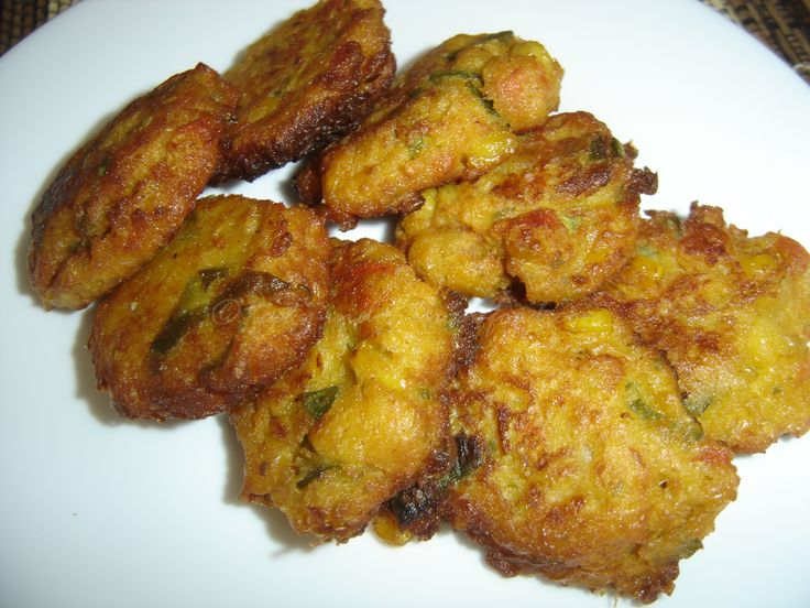 Bakwan jagung, spiced fried corn