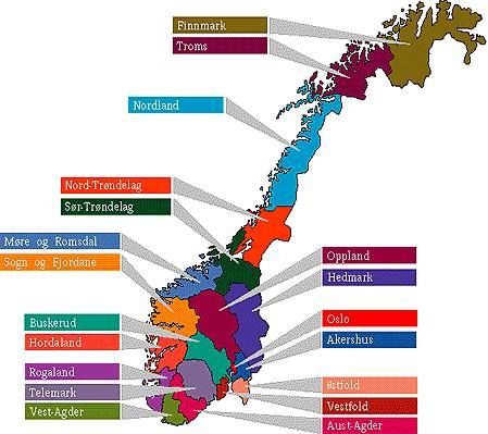Norway and it's regions