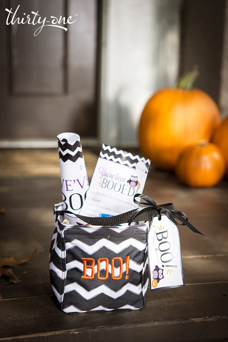 """The Littles Carry-All Caddy is perfect for """"Booing"""" your neighbors! Print the kit and start spreading the #Halloween fun! #Trickortreat #boo #Printables"""