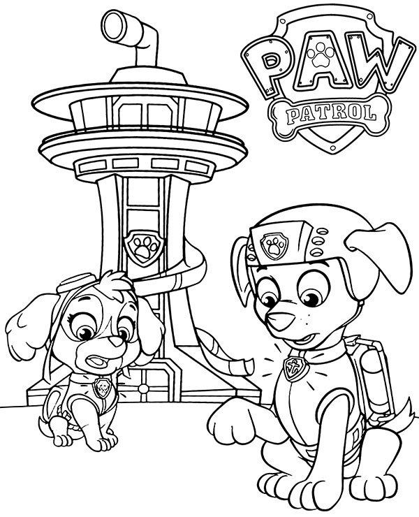 Paw Patrol Coloring Page Skye And Zuma On Paw Patrol Coloring Pages For Kids Paw Patrol Coloring Pages Paw Patrol Coloring Coloring Pages