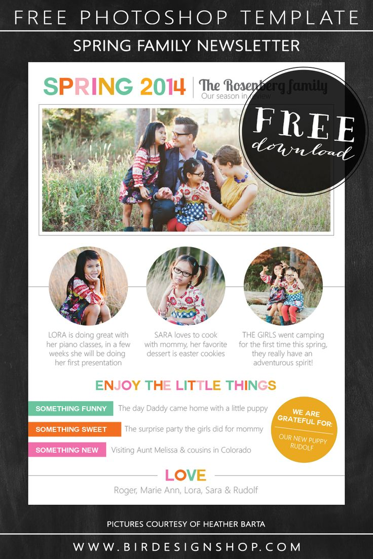 25 best ideas about Newsletter Template Free – Family Newsletter Template