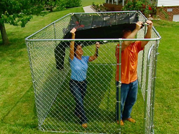 diy fenced animal shelter; ideas for the cats to safely get to enjoy the outdoors diynetwork.com (for cats as well)