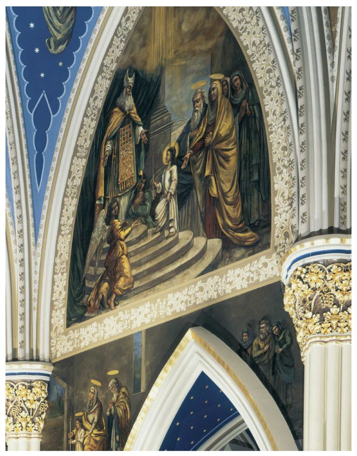 Mural Conservation, Basilica Of The Sacred Heart, Notre Dame, Indiana Part 88