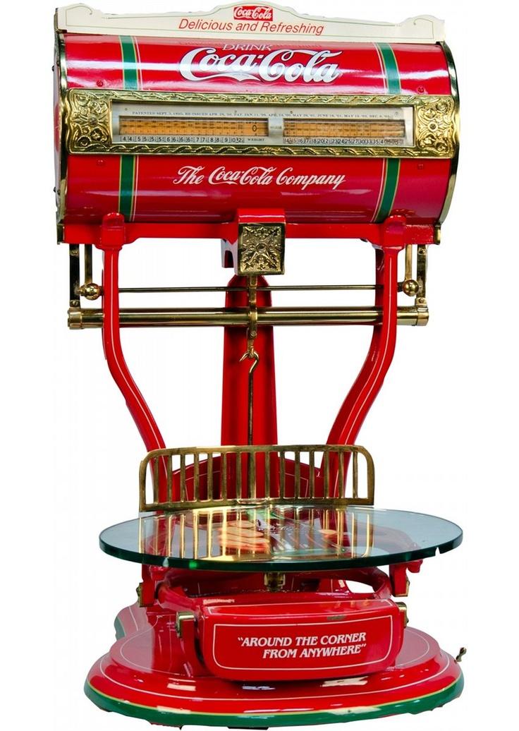 Early Toledo Style 144 Barrel Scale w/ Glass Tray, restored in Coca-Cola motif, No. 231404