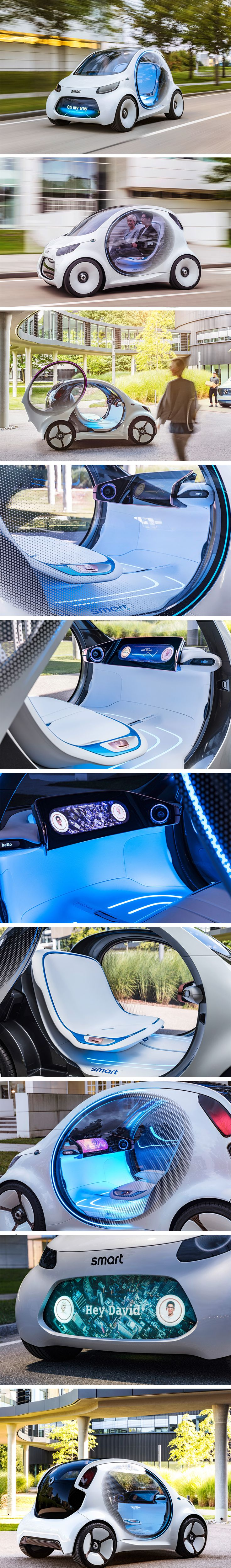 So Mercedes-Benz brings their Smart Vision EQ Concept toCES, and they shut down part of the Las Vegas Strip for it…if you haven't seen it already, then you'll understand why this was completely acceptable. An all-electric, completely autonomous car, built for personalization without actual ownership – the Smart Vision EQ Concept lacks both a steering wheel and pedals.