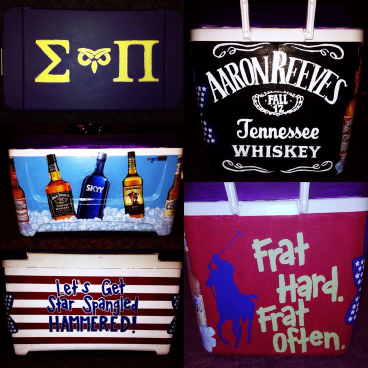 Painted fraternity cooler #cooler #sigmapi #fraternity #paintedcooler