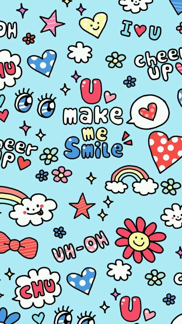 ✿ U Make Me Smile ★ Find more funky patterns for your #iPhone + #Android @prettywallpaper