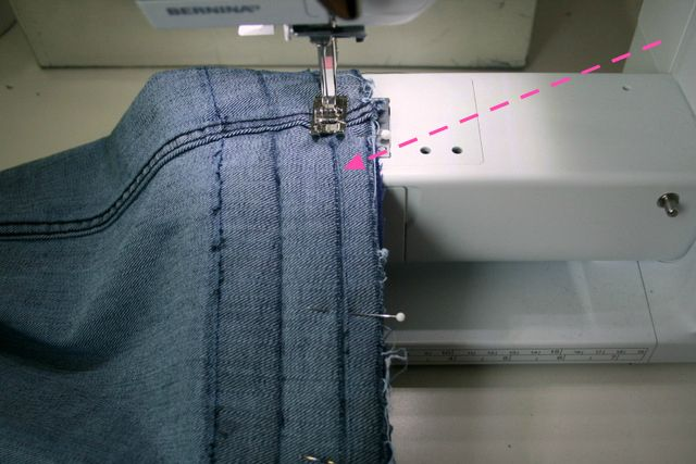 Create / Enjoy: How to make jeans a little longer - with a hem facing!